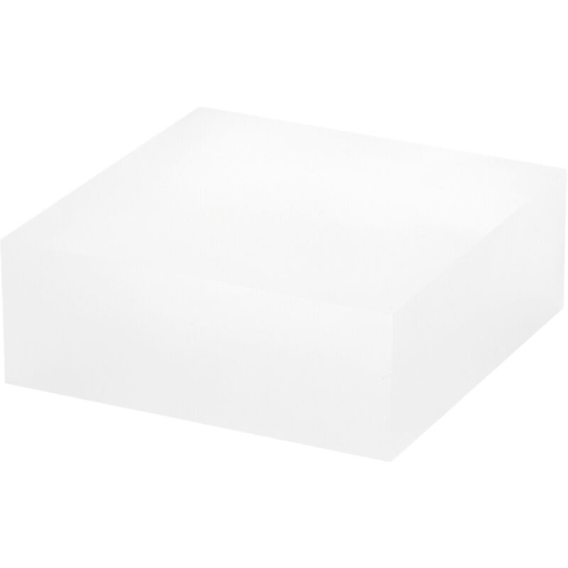 """Plymor Frosted Polished Acrylic Square Display Block, 1.5"""" H x 4"""" W x 4"""" D"""