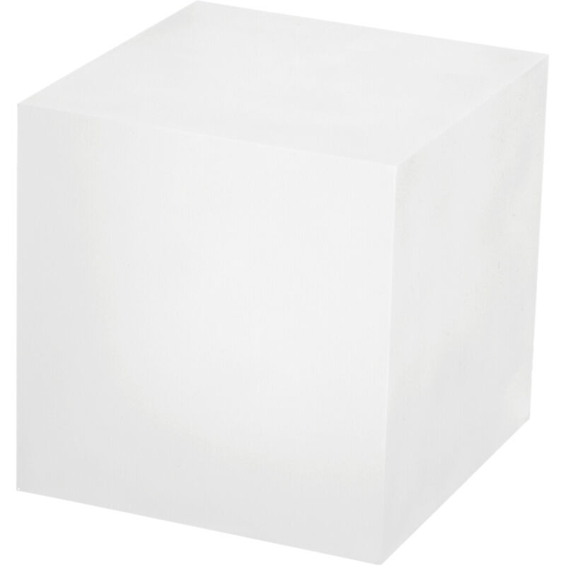 """Plymor Frosted Polished Acrylic Square Display Block, 4"""" H x 4"""" W x 4"""" D"""