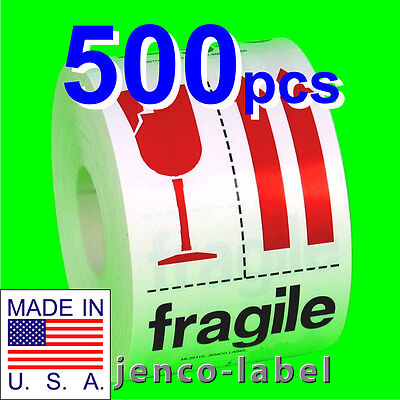 Ml35115 500 3x5 Fragile Labelsstickers