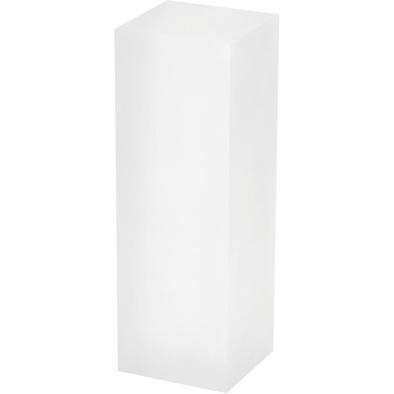 """Plymor Frosted Polished Acrylic Rectangular Display Block, 2"""" H x 2"""" W x 6"""" D"""
