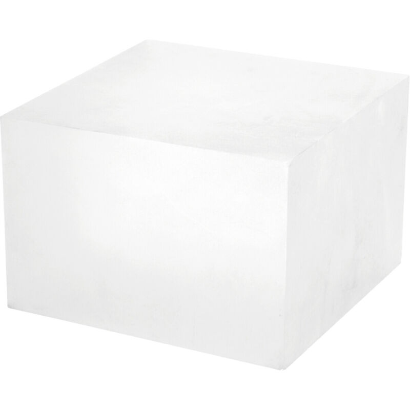 """Plymor Frosted Polished Acrylic Square Display Block, 4"""" H x 6"""" W x 6"""" D"""