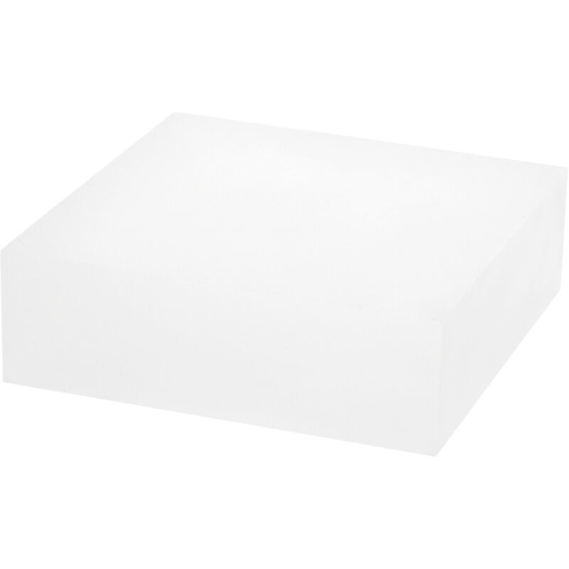 """Plymor Frosted Polished Acrylic Square Display Block, 2"""" H x 6"""" W x 6"""" D"""