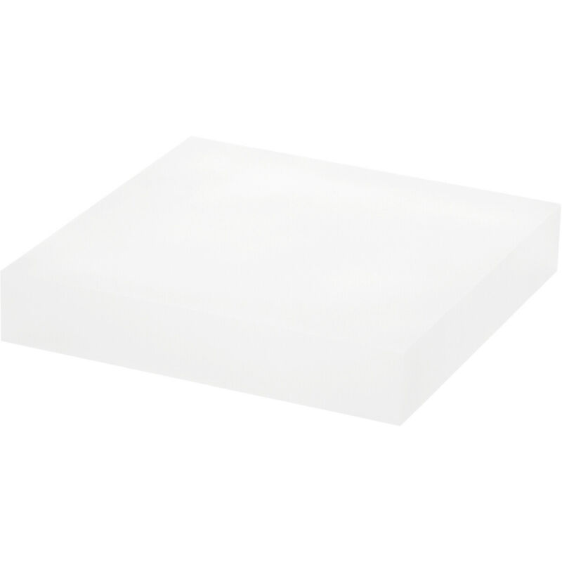 """Plymor Frosted Polished Acrylic Square Display Block, 1"""" H x 5"""" W x 5"""" D"""