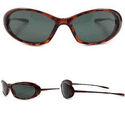 80s Old Stock True Vintage Classic Tortoise Wrap Around Sporty Oval Sunglasses](80s Wrap Sunglasses)