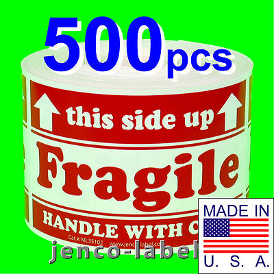 Ml35102 500 3x5 This Side Up Fragile Labelsstickers