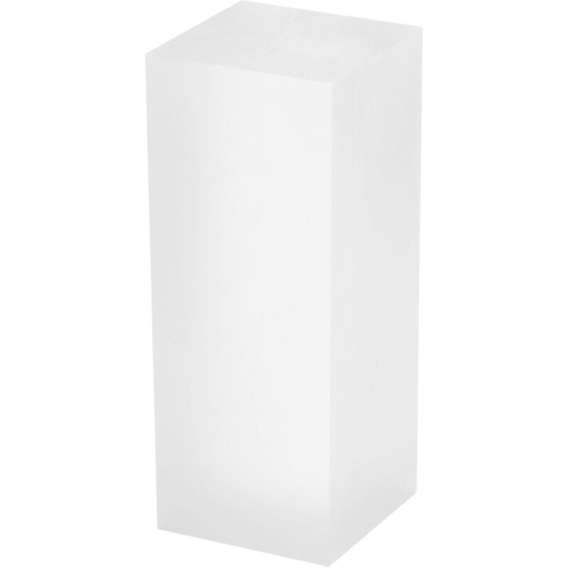 """Plymor Frosted Polished Acrylic Rectangular Display Block, 2"""" H x 2"""" W x 5"""" D"""