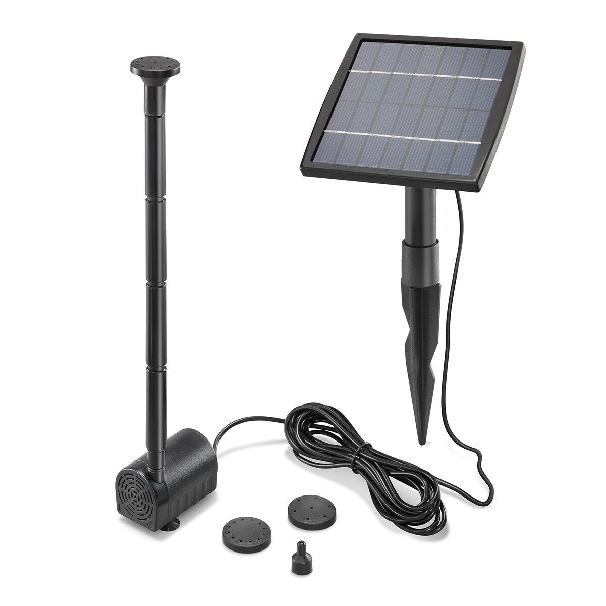 Solar Teichpumpe 1,5W 140l/h Solarpumpe Gartenteich Set Pumpenset esotec 101905