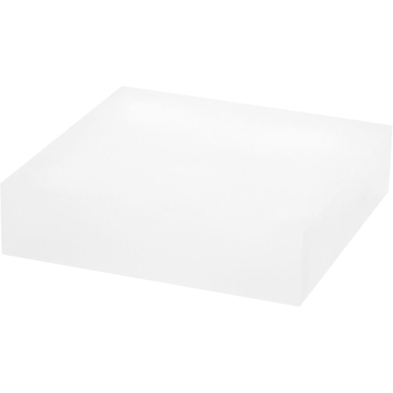 """Plymor Frosted Polished Acrylic Square Display Block, 1.5"""" H x 6"""" W x 6"""" D"""