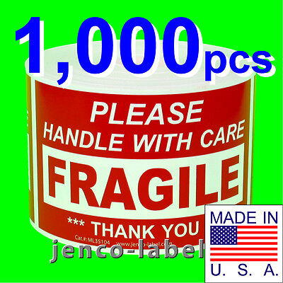 Ml35104 1000 3x5 Handle With Care Fragile Labelsticker