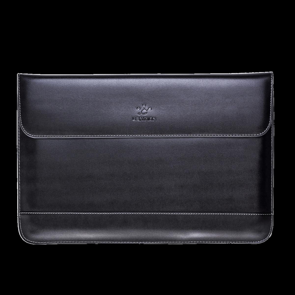 LENTION Slim Split Leather Sleeve Laptop Case Bag for MacBoo