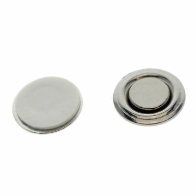 2 Pack - Small Round Button & Name Badge Magnets -Strong Magnetic Name Tag Back