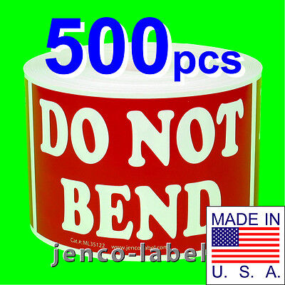 Ml35122 500 3x5 Do Not Bend Labelsstickers