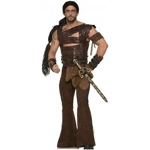 Be a powerful warrior in this Khal Drogo Game of Thrones costume. Costume includes large belt, belt, wrap skirt, shin guards, wrist guards and optional wig.