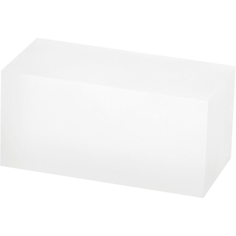 """Plymor Frosted Polished Acrylic Rectangular Display Block, 2"""" H x 2"""" W x 4"""" D"""