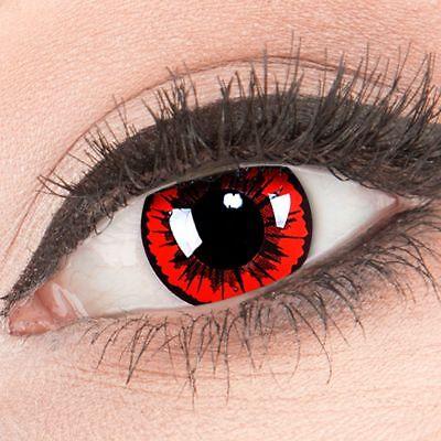 Farbige Halloween Kontaktlinsen Engel rot rote ohne Stärke Crazy Fun Linsen