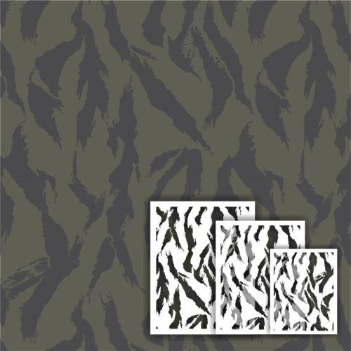 Redleg Camo ™ TIG3 tiger stripe 3 piece camo stencil kit