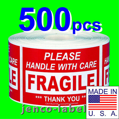 Ml23104 500 2x3 Handle With Care Fragile Labelssticker