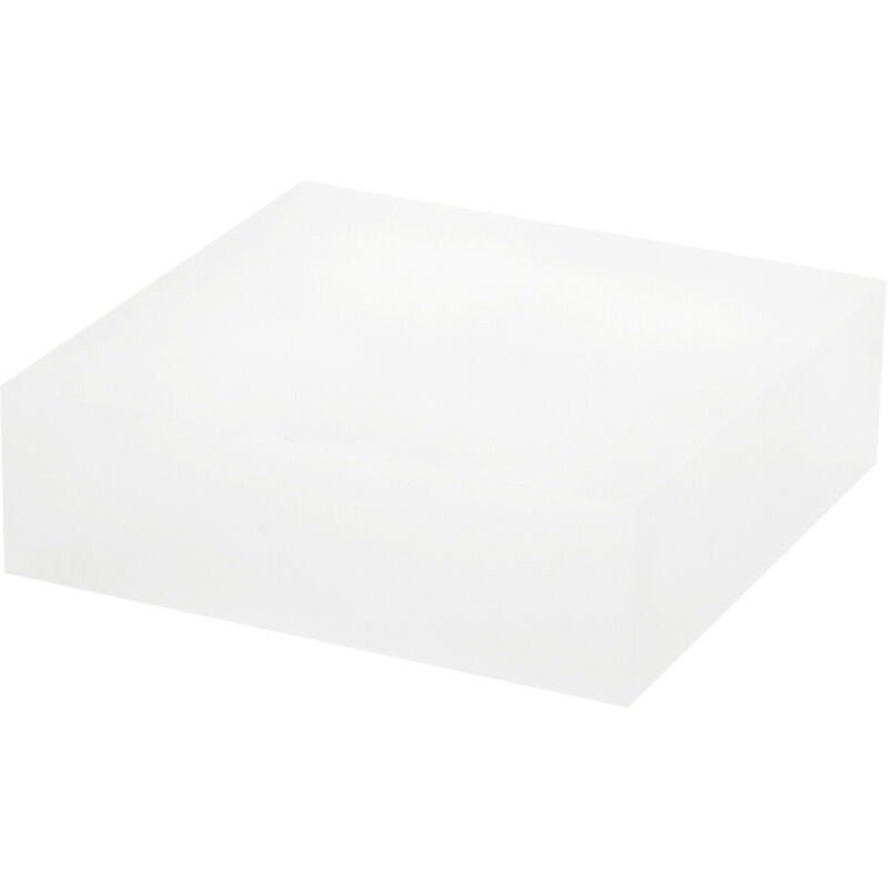 """Plymor Frosted Polished Acrylic Square Display Block, 1.5"""" H x 5"""" W x 5"""" D"""