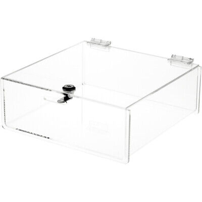 Plymor Clear Acrylic Locking Countertop Display Case 4 H X 10 W X 10 D