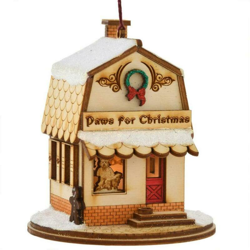 Ginger Cottages Paws For Christmas  Pet Shop Ornament GC128