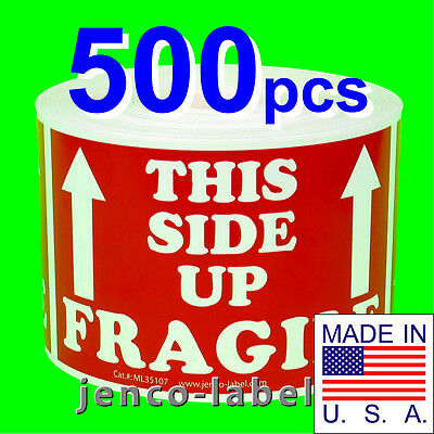 Ml35107 500 3x5 This Side Up Fragile Labelsstickers