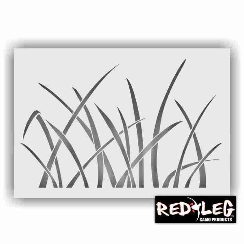 "Redleg Camo ™ 826MARSH 18""X26"" marsh grass duck boat camo stencil kit"