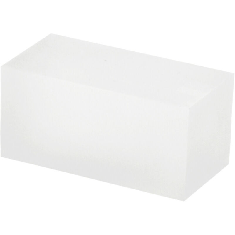 """Plymor Frosted Polished Acrylic Rectangle Display Block, 1.5"""" H x 1.5"""" W x 3"""" D"""