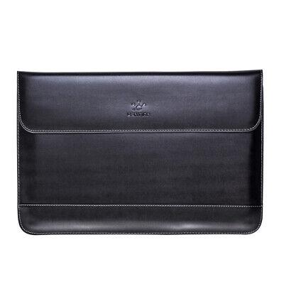 LENTION Split Leather Universal Laptop Sleeve Case Bag for MacBook Air Pro HP 13