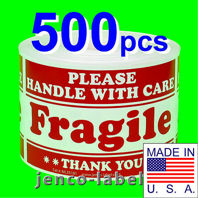 Ml35101 500 3x5 Handle With Care Fragile Labelssticker