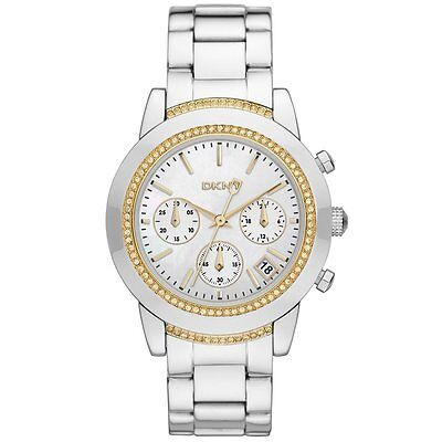 DKNY Street Smart Stainless Chrono ladies Watch NY8588 NEW!  Low Inter Shipping!