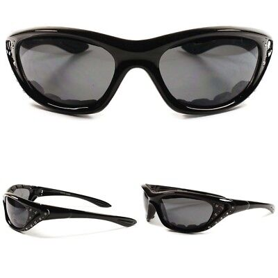 c333360b937b Mountain Biking Hot Black Rhinestone Motorcycle Foam Padded Womens  Sunglasses