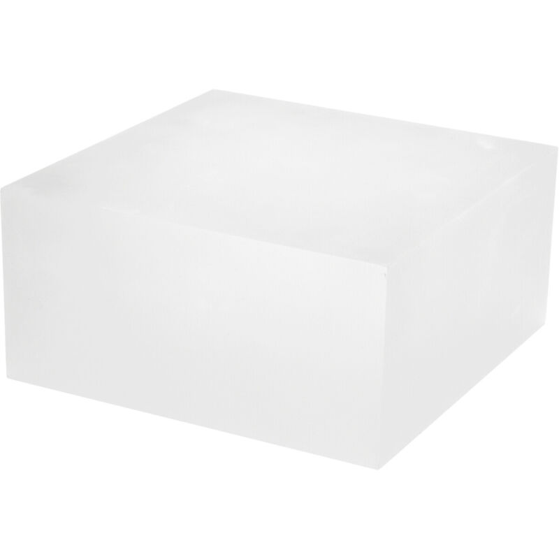 """Plymor Frosted Polished Acrylic Square Display Block, 4"""" H x 8"""" W x 8"""" D"""