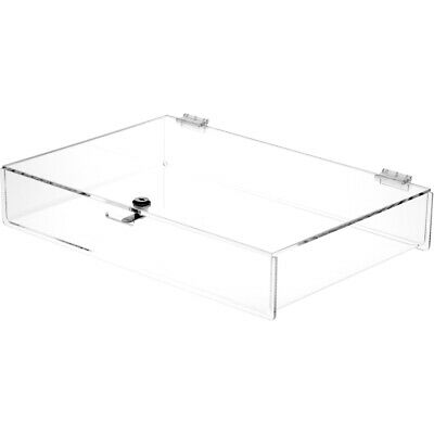 Plymor Clear Acrylic Locking Countertop Display Case 2.75 H X 18 W X 12 D