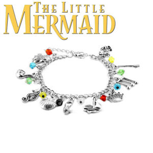 27ff4ca4b Disneys The Little Mermaid 10 Themed Charms Assorted Metal Charm Bracelet