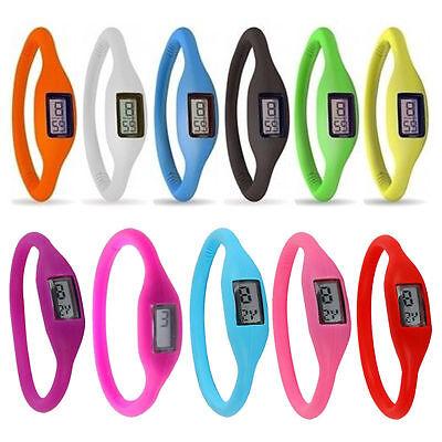Modisches Silikon Armbanduhr für Kinder Jungen Mädchen Herren Damen