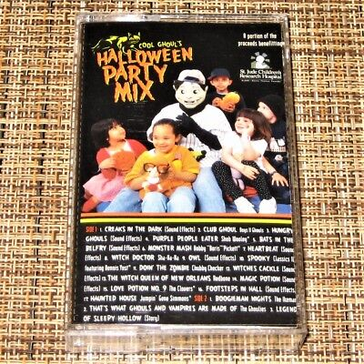 COOL GHOUL'S HALLOWEEN PARTY MIX ~ RARE Bare Bones cassette tape