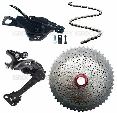 Shimano XT M8000 I Spec B 4pcs Groupset w/Sunrace MX80 Silver 11/50T New