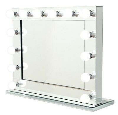 Niches Hollywood Makeup Mirror With Lights Vanity Mirror 14 LED Bulbs Table Top
