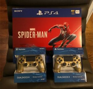 BRAND NEW 1TB SONY PS4 SPIDER-MAN BUNDLE+ 2 EXTRA CONTROLLERS!