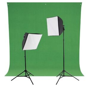 Photography lights and backdrop kit
