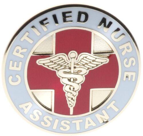 CNA Certified Nurse Assistant Caduceus Cross Red Gold Tone Hat Pin PMS711 F4D9F