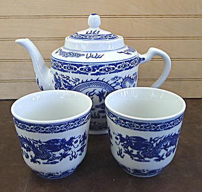Blue Dragon Porcelain Tea Cup Set Dinner ware Set Vase