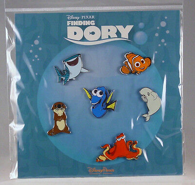 Disney Trading Pins FINDING DORY Bruce Nemo others Booster Set of 6