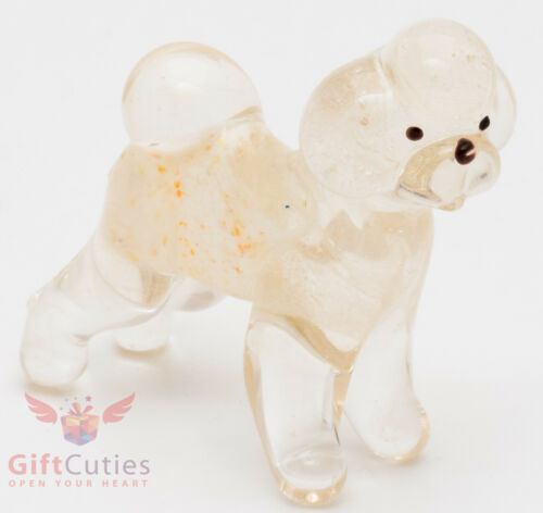 Art Blown Glass Figurine of the Bichon Frise dog