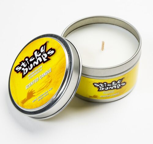 Sticky Bumps surfboard wax 5 Oz tin Candle COCONUT surf wax candle