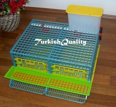 Double Compartment Quail Egg & Farming Cage, First in the world Patented design