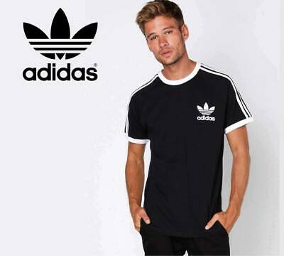 Adidas Originals Retro California / Trefoil Short Sleeve Crew Neck Mens T-Shirt!