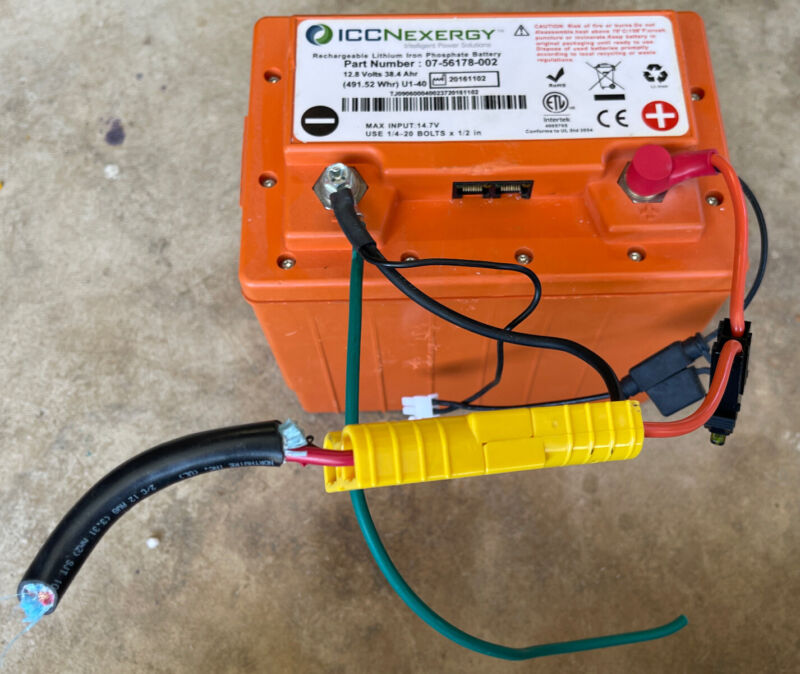 ICCNexergy Lithium Iron Phosphate Battery 07-56178-002 12.8 Volts 38.4 Ahr Fuser