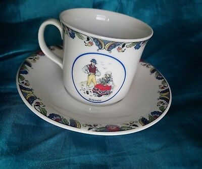 RORSTRAND Swedish National Costumes Blekinge, cup and saucer Perfect Condition
