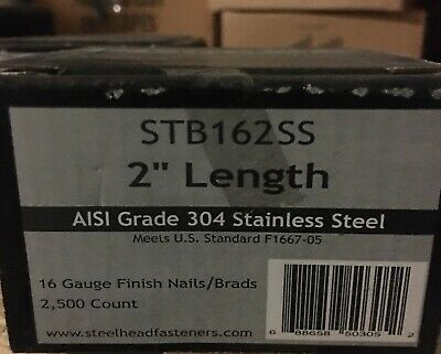 2 16 Gauge Finish Nails In 304 Stainless Steel 2500box